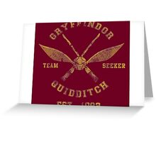Gryffindor Quidditch - Team Seeker Greeting Card