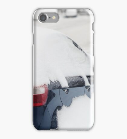 car covered with snow iPhone Case/Skin