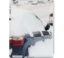 car covered with snow iPad Case/Skin