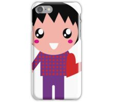 Little cute Emo kids for Valentines day iPhone Case/Skin