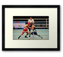Boxing match World Championship's Framed Print