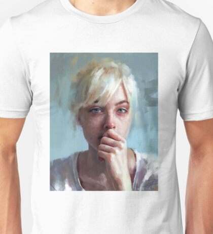 crying portrait Unisex T-Shirt