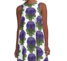 Moon Flower Pattern A-Line Dress