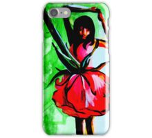 Bright floral dancer iPhone Case/Skin