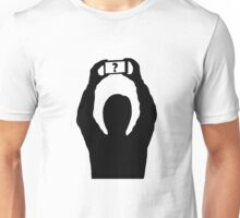 Man with mobile phone Unisex T-Shirt