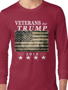American Veterans for President Trump Long Sleeve T-Shirt