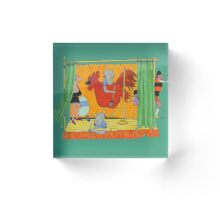 A Playlet on Chicken Ranching Acrylic Block