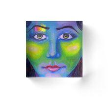 Rainbow Girl Acrylic Block