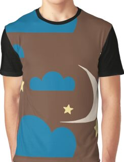Clouds brown Graphic T-Shirt