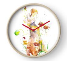 Women Abstract, Watercolor Art Clock