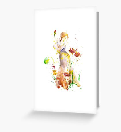 Women Abstract, Watercolor Art Greeting Card