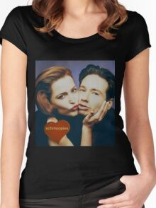 The Schmoopies - Gillian and David painting Women's Fitted Scoop T-Shirt