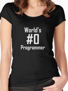 World's #0 Programmer Women's Fitted Scoop T-Shirt