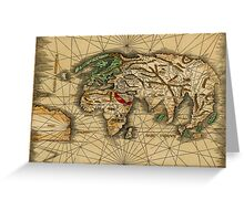 World Map 1505 Greeting Card