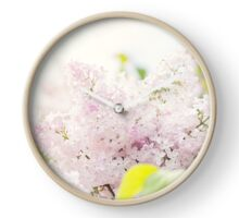 Soft pink lilac flowers Clock