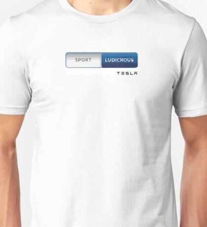 Tesla motors Ludicrous insane mode - Cars Elon Musk electric cars Unisex T-Shirt