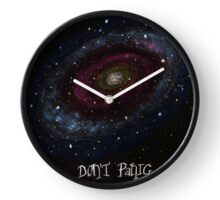 The Hitchhiker's Guide to the Galaxy Tshirt , Don't Panic Clock
