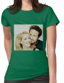 Gillian and David painting Womens Fitted T-Shirt