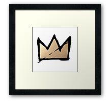 Gold & Black Basquiat Crown  Framed Print