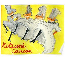 Kitsune CanCan (After Lautrec) Poster