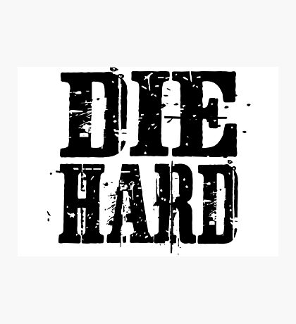 die hard classic hollywood movies movie film acton t shirts Photographic Print