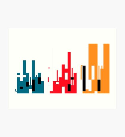 Skyline, Generative Art, Data Visualisation Art Print