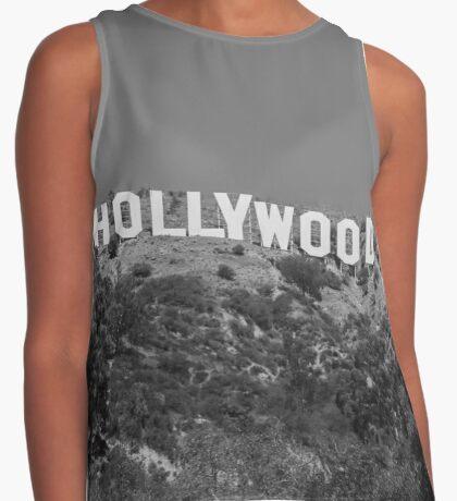 Hollywood Sign, California Contrast Tank