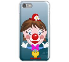Funny clown with big smile iPhone Case/Skin