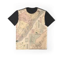 Map Of Cape May 1872 Graphic T-Shirt