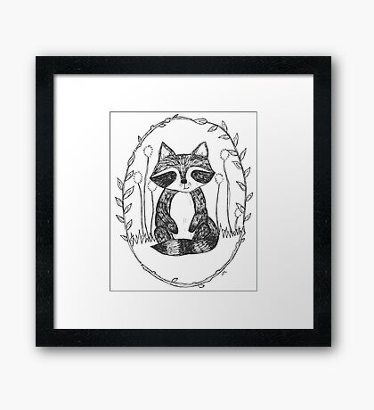 Portrait of a Raccoon Framed Print