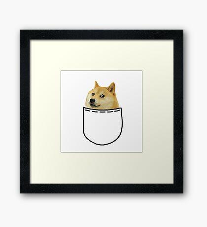 Doge MEME Framed Print