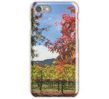 Fall vineyard iPhone Case/Skin