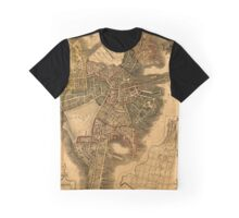Map Of Boston 1814 Graphic T-Shirt