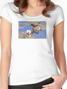 Australasian Grebe Women's Fitted Scoop T-Shirt