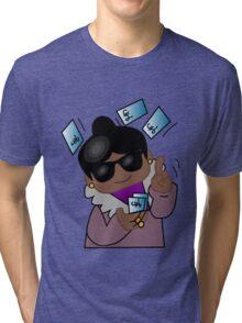 Spending the Kids' Inheritance - Black Momma/Nanna Tri-blend T-Shirt