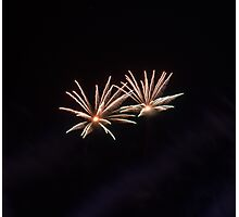 Small fireworks Photographic Print