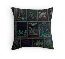 NEON PUNK TAPES Throw Pillow