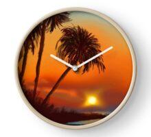Hawaiian Sunset Clock