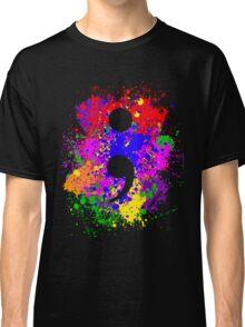 Semicolon Paint Splatter Classic T-Shirt