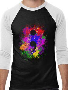 Semicolon Paint Splatter Men's Baseball ¾ T-Shirt