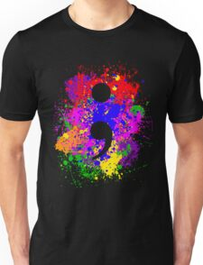 Semicolon Paint Splatter Unisex T-Shirt