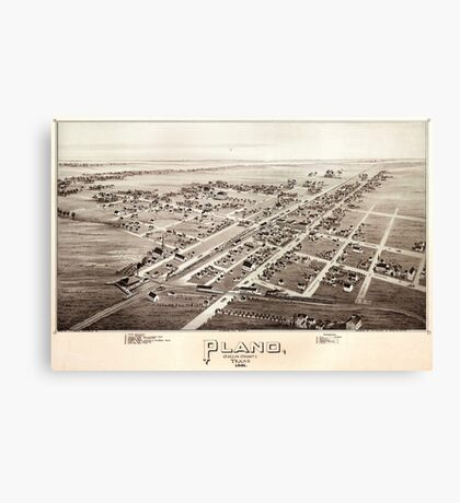 Map Of Plano 1891 Canvas Print