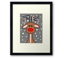 Happy Reindeer Framed Print