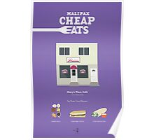Halifax Cheap Eats - Mary's Place Poster Poster