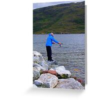 Evening Angler Greeting Card