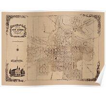 Map Of Ann Arbor 1854 Poster