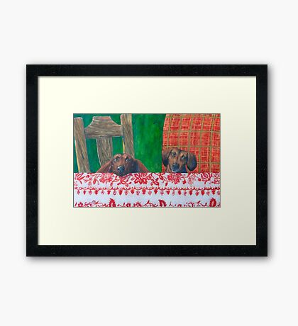 Ready for Christmas Feast Framed Print