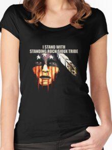 Shailene Woodley - Official Standing Rock Shirt Women's Fitted Scoop T-Shirt