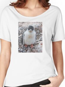 "Gentoo Penguin Chick ~ ""My life's goal....to grow into my feet!"" Women's Relaxed Fit T-Shirt"
