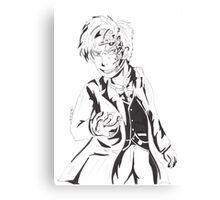 Mr Clever - Black and White Canvas Print